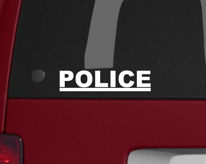 Police vinyl decal, Police sticker, Police vinyl outdoor decal, Police decal, Police car decal, Law Enforcement decal, Police vehicle decal