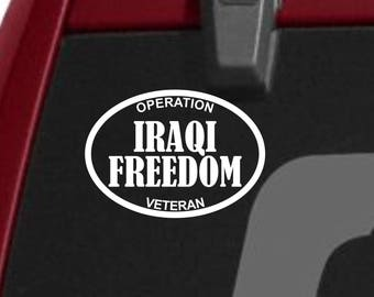 Iraqi Freedom decal, Iraqi Freedom campaign vinyl decal, Iraq I served sticker, Iraq decal, Iraqi freedom sticker, I served Iraqi freedom