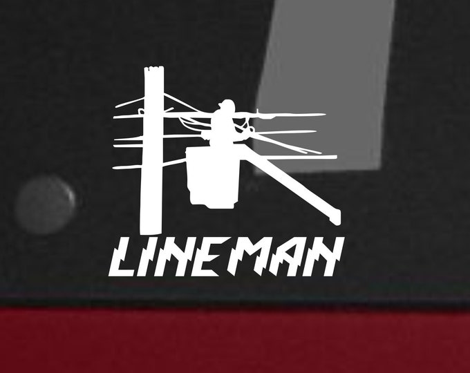 Lineman vinyl decal, Lineman vinyl sticker, lineman decal, lineman sticker, Line life decal, line life sticker, Lineman car decals, lineman