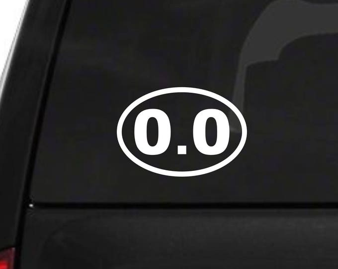 0.0 miles decal, mileage decal, runner's decal, 0.0 miles sticker, 0.0 marathon decal, 0.0 sticker, 0.0 miles runner, zero miles decal