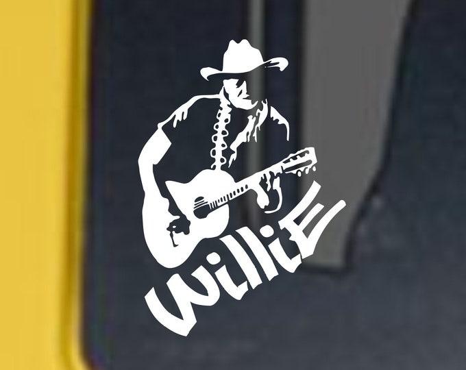 Willie vinyl decal, Willie vinyl sticker, Willie decal, Country music decal, country music legend, Willie, Willie and Trigger, Country music