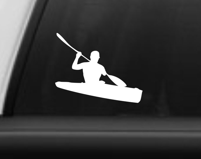 Kayak decal, Kayak sticker, Vinyl kayak decal, paddlesports decal, kayaking decal, kayaking sticker, kayak canoe decal, kayaker decal