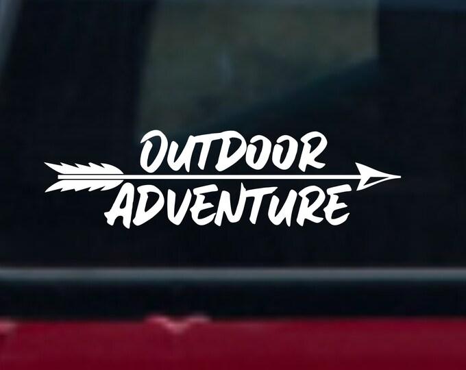 Outdoor Adventure decal, outdoor adventure sticker, outdoor adventure car decal, outdoor adventure, outdoor sticker, adventure sticker