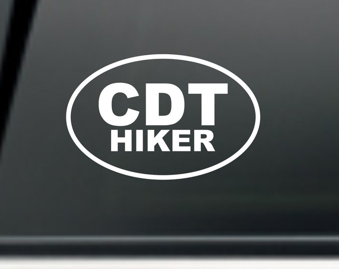 CDT Hiker decal, CDT Hiker sticker, CDT hiker, Continental Divide Trail decal, Hiker decal, Hiker sticker, Hiker gear, Hiker patch