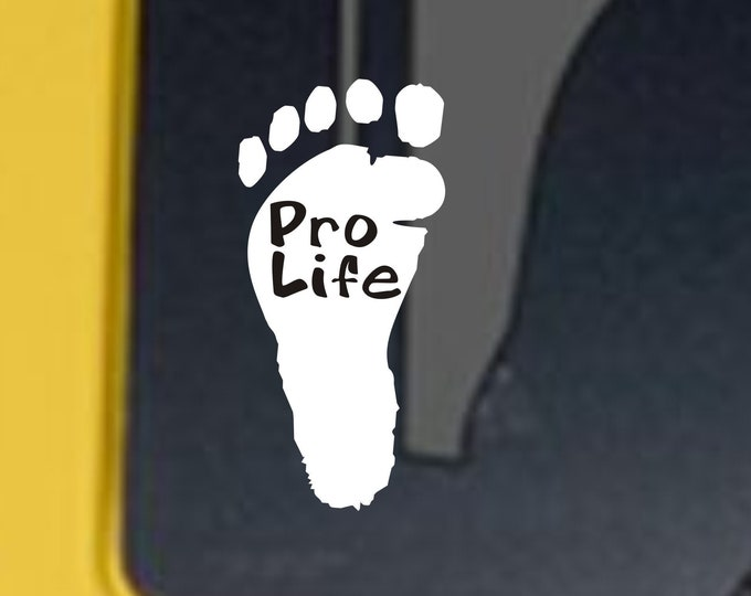 Pro Life vinyl decal, pro life sticker, pro life vinyl sticker, pro life car decal, pro life, pro life window decal, pro life advocate