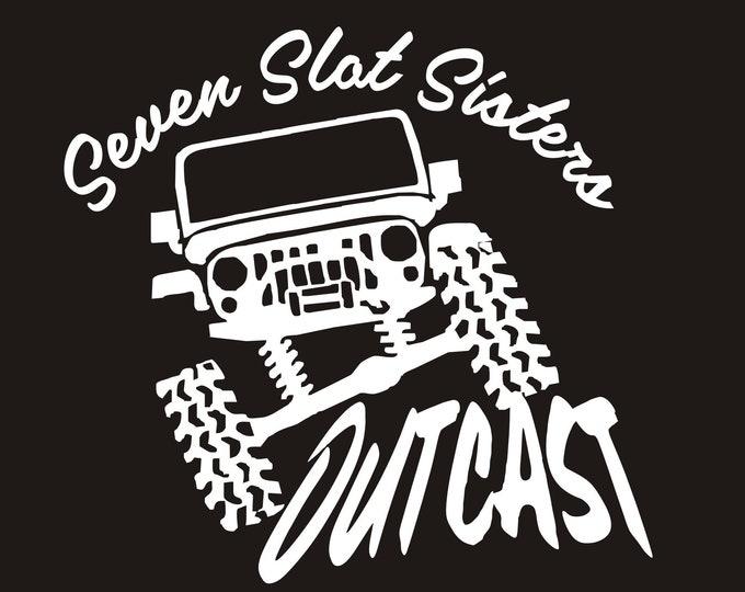 Sisters, Seven Slot Sisters logo vinyl decal