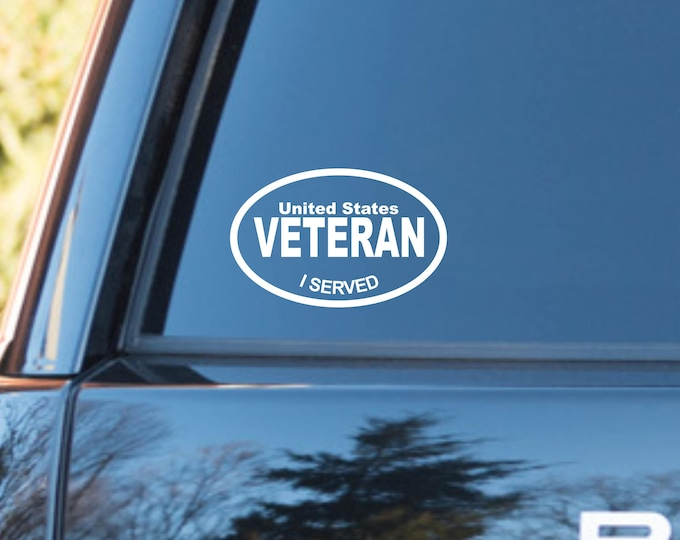 US veteran decal, Veteran decal, Veteran sticker, US veteran vinyl decal, US veteran vinyl sticker, Veteran car decal, Free Shipping!
