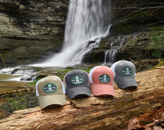 Appalachian Trail embroidered patch trucker cap, Appalachian Trail patch cap, Appalachian Trail trucker cap, Appalachian Trail patch hat