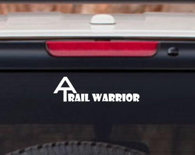 Appalachian Trail Warrior decal, trail warrior decal, trail warrior sticker, AT decal, Appalachian trail sticker, Appalachian trail warrior