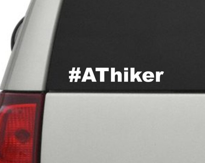 Appalachian Trail hashtag decal, AT hiker decal, hiker decal, AT hashtag decal, Appalachian trail sticker, backpacker hashtag decal, hiker