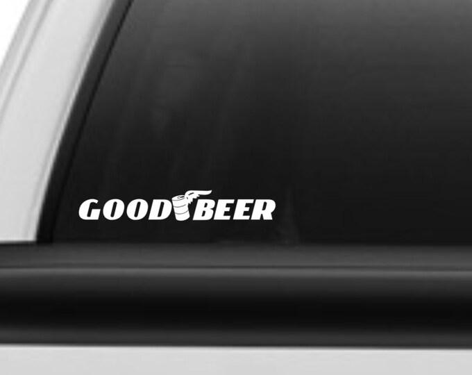 Goodbeer decal, Goodbeer sticker, funny goodbeer decal, beer decal, beer sticker, craft beer decal, craft beer sticker, beer car decal, beer