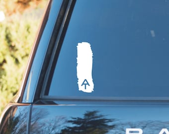 Appalachian trail blaze marker decal, white blaze decal, white blaze sticker, hiker decal, appalachian trail sticker