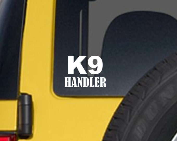 K9 handler decal, K9 handler sticker, K9 handler, K9 car sticker, police dog decal, police dog sticker, k9 sticker, k9 dog sticker, k9