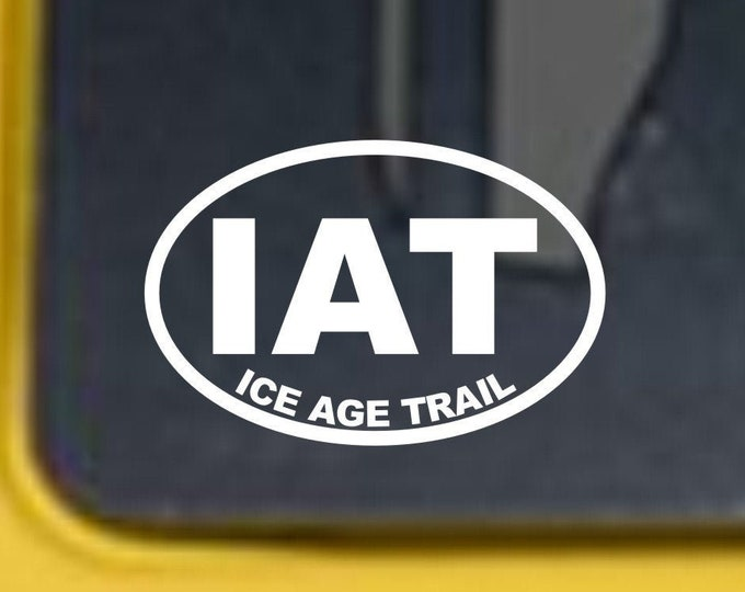 Ice Age Trail vinyl decal, Ice Age Trail, Ice Age Trail sticker, ice age trail vinyl sticker, Wisconsin hiking trail, ice age hiking trail