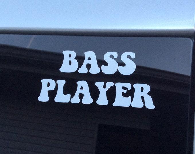 Bass player decal, bass player sticker, bass player vinyl decal, bass guitar decal, bass guitar sticker, bass decal, bass sticker