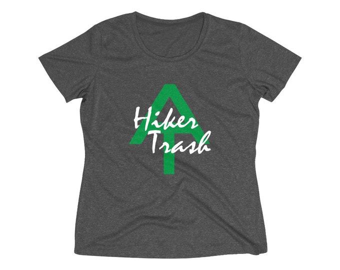 Appalachian Trail Hiker Trash, Dri-fit Performance hiker t-shirt, Women's Heather Wicking Tee