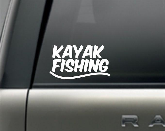 Kayak Fishing decal, Kayak Fishing sticker, kayak fishing vinyl decal, kayak fishing, KBF decal, KBF sticker, kayak angler decal, kayak