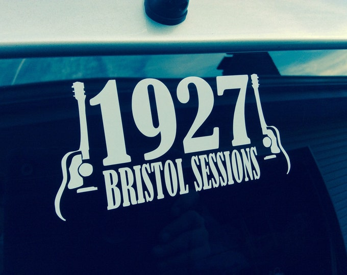 1927 Bristol Sessions decal, Birthplace of Country Music decal, Bristol VA/TN decal, Country music sticker, Country music decal