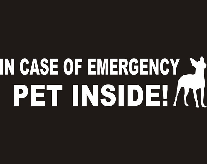 """Custom """"PET Inside"""" emergency decal, save my pet sticker, save my pets sticker, in case of emergency save my pet, home pet rescue decal"""