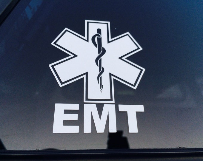 EMT Vinyl Decal, EMT Sticker, Emergency Medical Technician Decal, First Responder Decal, Medical Sticker, Medical Decal