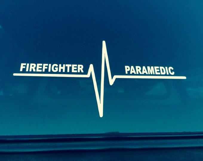 Firefighter Paramedic Vinyl Decal, Emergency Rescue decal, Paramedic sticker, Firefighter Sticker, Firefighter Paramedic Sticker