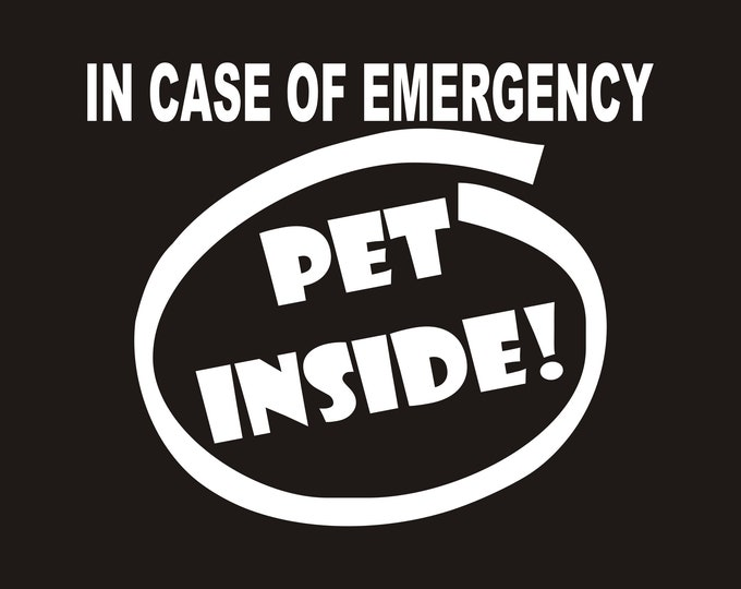 Pet emergency decals. in case of emergency save my pets, pet rescue decal, pet rescue sticker, fire emergency pet rescue, pet emergency