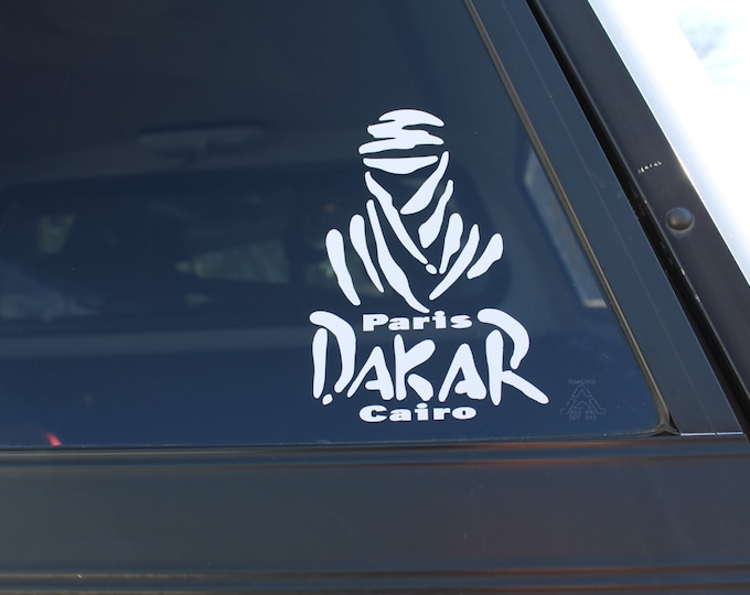 "Decal ""Dakar"" rally."