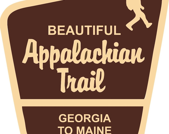 Appalachian Trail sticker, Appalachian Trail decal, hiker decal, hiker sticker, Appalachian Trail sign sticker