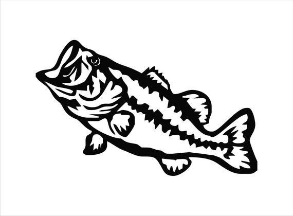 Vinyl Sticker Waterproof Decal Largemouth Bass