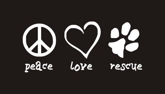 ANIMAL ADOPTION Decal Car Sticker Window Label PETA Pet Cat Dog Adopt Love