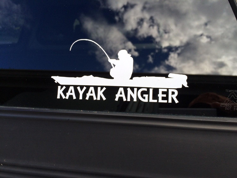 Vinyl Kayak Angler Decal Kayak Angler Sticker Kayak