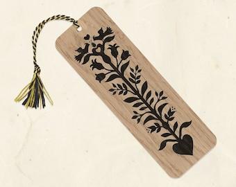 Heart Tree Wood Bookmark with Tassel Eco-Friendly Fine Art