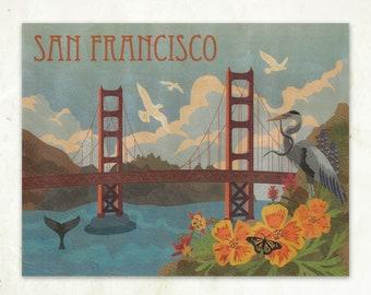 Golden Gate Bridge Print Eco-Friendly Fine Art