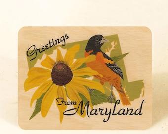 Maryland State Sustainable Wood Postcard