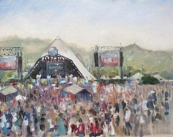 Glastonbury Pyramid Stage Print // Glasto festival