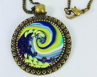 Handmade Whirling Necklace