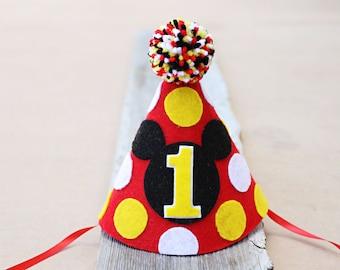 Mickey 1st Birthday Hat