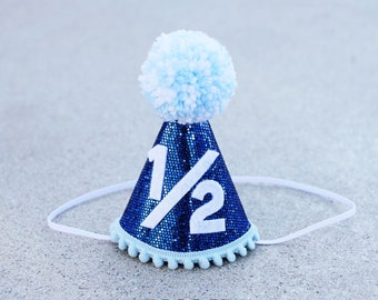 Boys 1 2 Birthday Blue Party Hat And Bow Tie