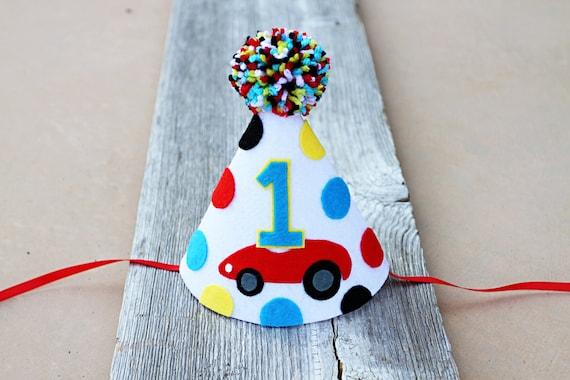 Boys 1st Birthday Cars Party Hat