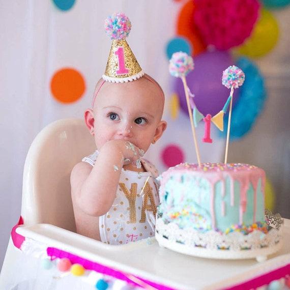 Girls 1st Birthday Cake Topper Girls 2nd Birthday Cake Etsy
