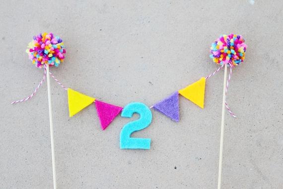 Girls 1st Birthday Cake Topper
