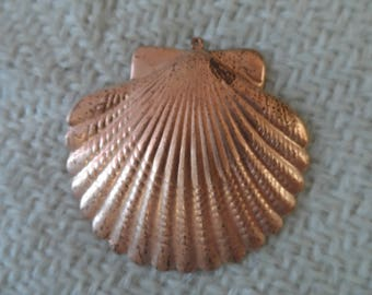 "Ex-large Copper coated steel scallop,2"",1pc-KC530"