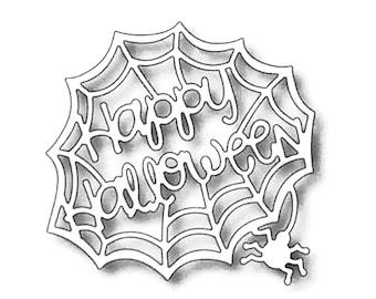 Halloween Spider web Dies Cut For Card Making Scrapbooking Dies Metal Couple Cut