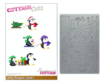 SUPPLY GUY 6mm Mama Penguin Metal Punch Design Stamp SGCH-297