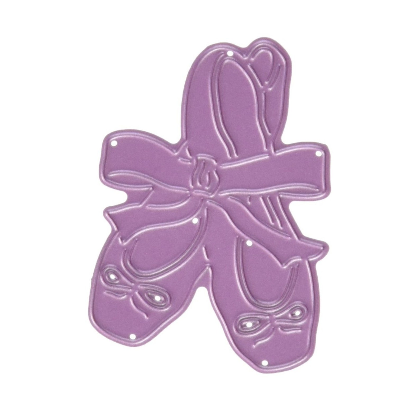 ballet slippers die cut ballerina toe shoes cheery lynn cutting dies b589 for handmade cards,scrapbook pages,cuttlebug,sizzix,ot
