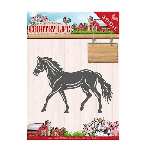 farm horse border Metal Cutting Dies Scrapbooking Embossing Decorative Die Cuts