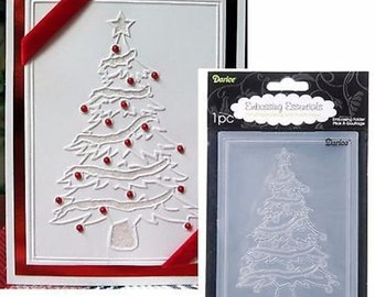 CHRISTMAS TREE universal A2 Darice embossing folder 1215-56 Holiday scrapbooking and cardmaking Compatible with Cuttlebug & other machiness