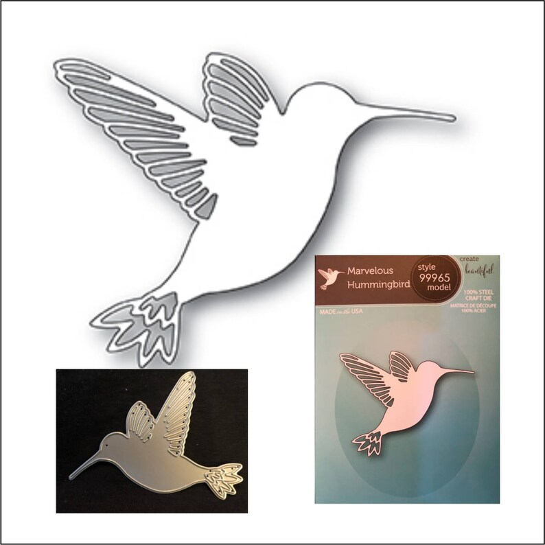 Humming Bird Dies Metal Cutting Dies Scrapbooking Card Making Embossing Crafts