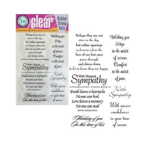 Stamps by Impression with Sympathy Rubber Stamp