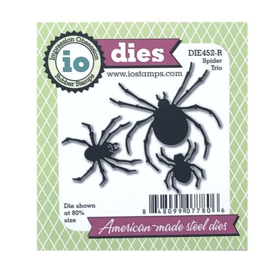 Metal Cutting Die Spider On Web Insect Wildlife Halloween Die
